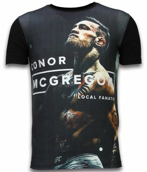 Local Fanatic McGregor Cocks - Digital Rhinestone T-shirt - Zwart