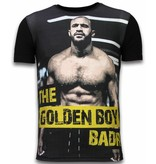 Gentile Bellini The Golden Boy - Digital Rhinestone T-shirt - Zwart