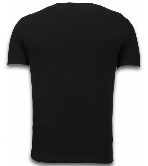 TONY BACKER Lollipop - Digital Rhinestone T-shirt - Zwart