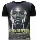 Local Fanatic The Undefeated Champion  - Digital Rhinestone T-shirt - Zwart