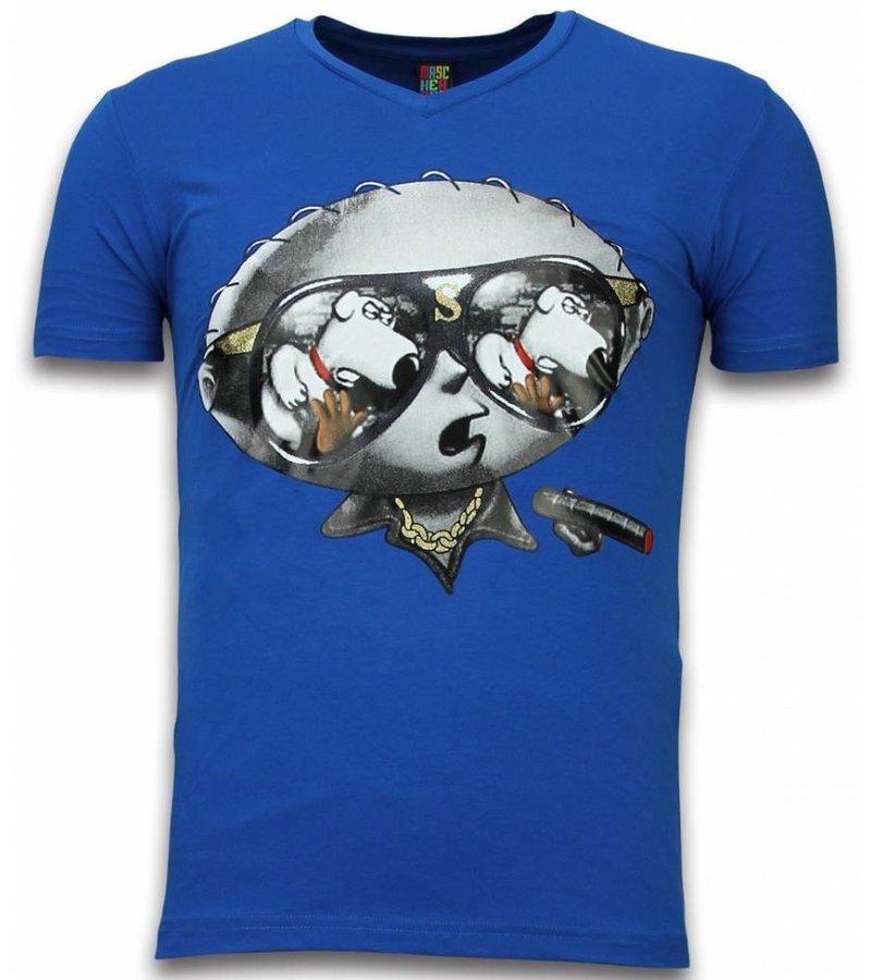 Mascherano Stewie Dog - T-shirt - Blauw