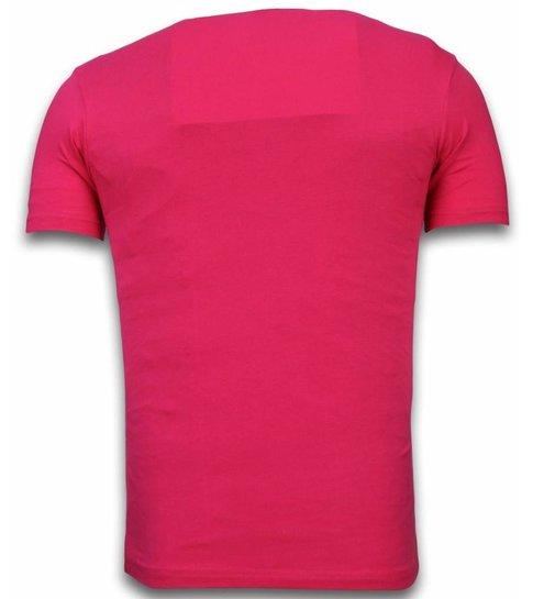 Local Fanatic Stewie Dog - T-shirt - Fuschia
