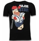 Local Fanatic Major Star - T-shirt - Zwart