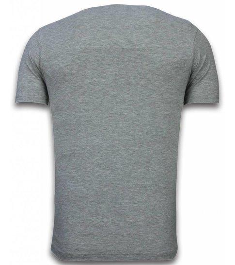 Local Fanatic Major Star - T-shirt - Grijs