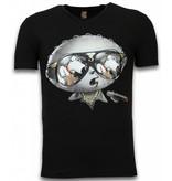 Mascherano Stewie Dog - T-shirt - Zwart