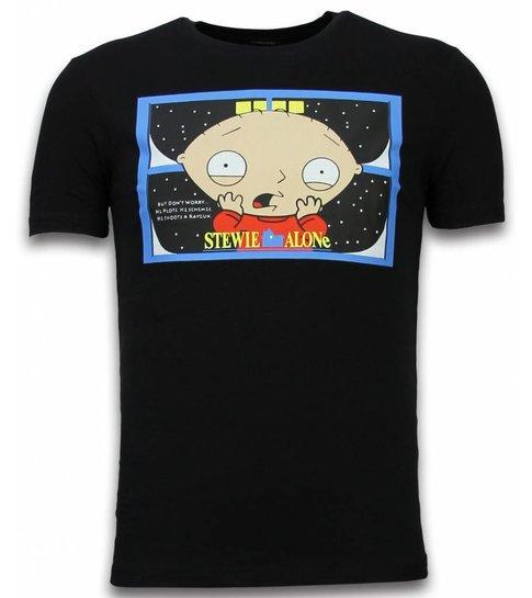 Mascherano Stewie Home Alone - T-shirt - Zwart