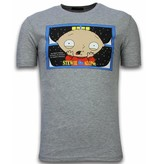 Local Fanatic Stewie Home Alone - T-shirt - Grijs