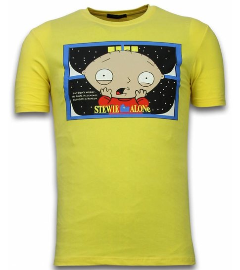 Mascherano Stewie Home Alone - T-shirt - Geel