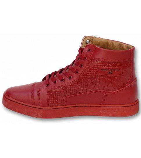 Sixth June Heren Schoenen - Heren Sneaker High Heel - Devil Red