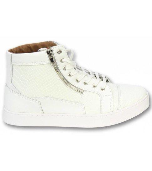 Sixth June Heren Schoenen - Heren Sneaker High Heel - Devil White