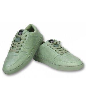 Sixth June Heren Schoenen - Heren Sneaker Seed Essential - Olijfgroen