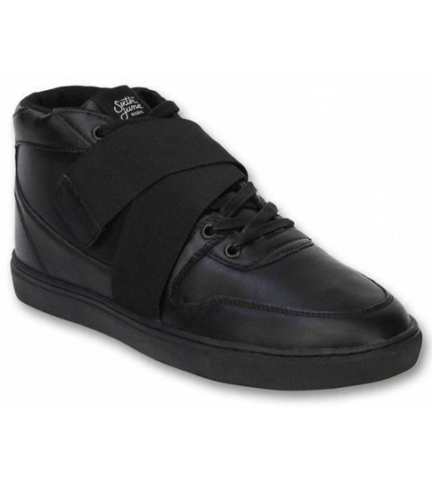 Sixth June Heren Schoenen - Heren Sneaker Nation Strap - Zwart
