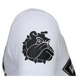 Local Fanatic Fight Club Spike - Rhinestone T-shirt - Wit