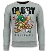 Local Fanatic Glory Trui - Marvin Spartacus Heren Sweater - Grijs