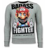 Local Fanatic Mario Trui - Fight Club Heren Sweater - Grijs