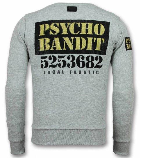 Local Fanatic Bad Dog  Trui - Cartoon Heren Sweater - Grijs