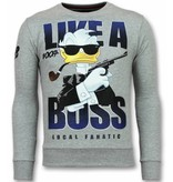 Local Fanatic 007 Trui - James Bond Heren Sweater - Grijs