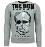 Local Fanatic Godfather Trui - Godfather Heren Sweater - The Don - Grijs