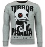Local Fanatic Panda Trui - Terror Heren Sweater - Mannen Truien - Grijs