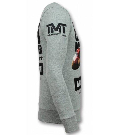 Local Fanatic Mayweather Trui - Floyd Heren Sweater - Grijs