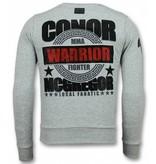 Local Fanatic Notorious Trui - Mcgregor Warrior Heren Sweater - Grijs