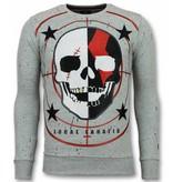 Local Fanatic Skull Trui - God of War Heren Sweater - Grijs