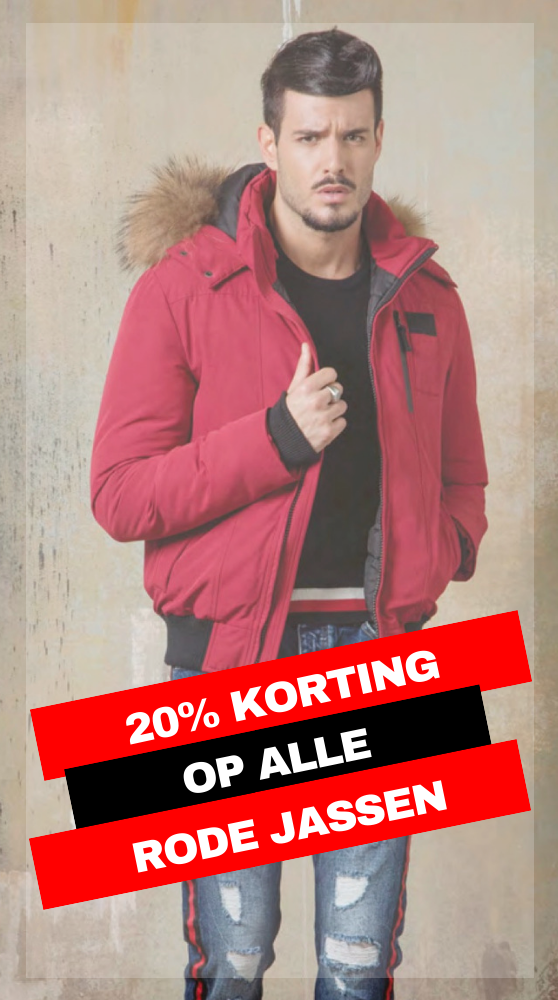 20%Rode Winterjassen