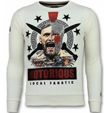 Local Fanatic Notorious Trui - Mcgregor Warrior Sweater Heren - Wit