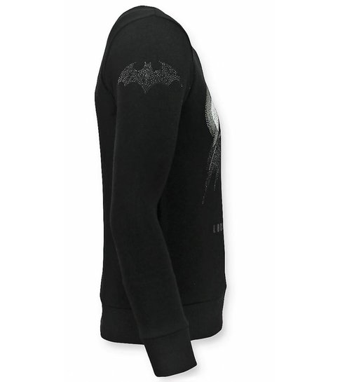 Local Fanatic Batman Trui - Batman Sweater Heren - Mannen Truien - Zwart