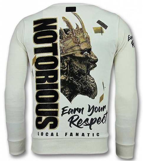 Local Fanatic Notorious Trui - King Mcgregor  Sweater Heren - Wit