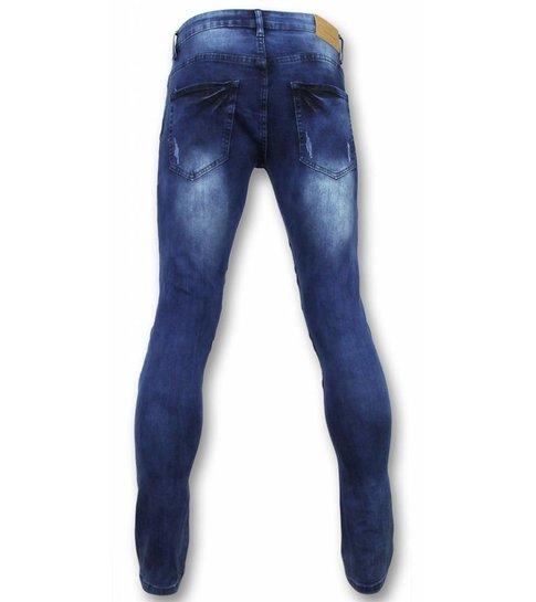 New Stone Heren Jeans - Biker Jeans Heren - Broek Kopen - Blauw