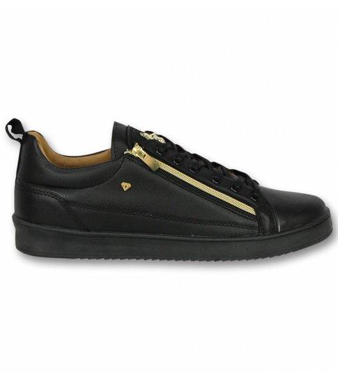 Cash Money Heren Schoenen - Heren Sneaker Bee Black Gold - CMS97 - Zwart