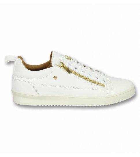 Cash Money Heren Schoenen - Heren Sneaker Bee White Gold - CMS97 - Wit