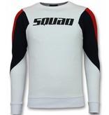 TONY BACKER Three Color Trui - Squad Sweater Heren - Wit