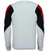 UNIMAN Three Color Trui - Squad Sweater Heren - Wit