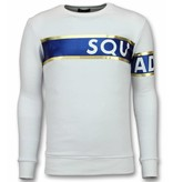 TONY BACKER Stripe Color Trui - Squad-93 Sweater Heren - Wit