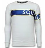UNIMAN Stripe Color Trui - Squad-93 Sweater Heren - Wit