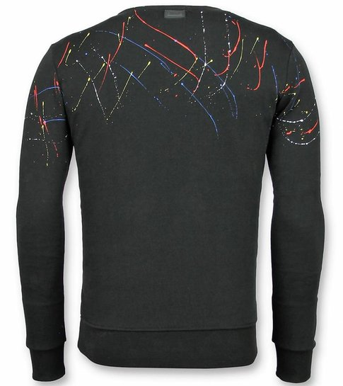 UNIMAN Paint Drop Trui - ICONS Sweater Heren - Zwart