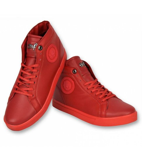 Cash Money Heren Schoenen - Heren Sneaker Lion Red Silver - CMS86 - Rood