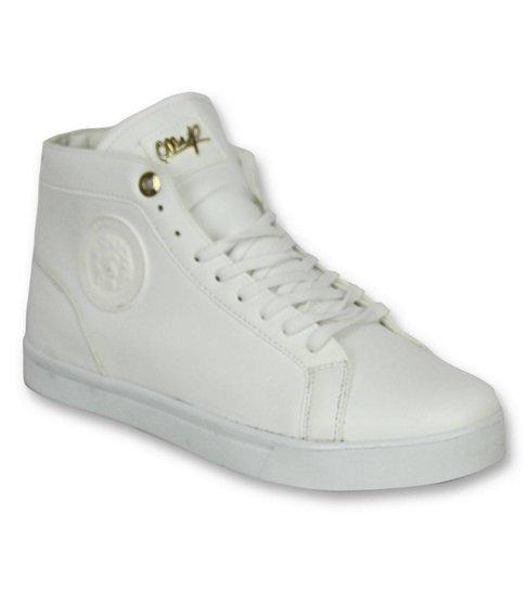Heren Schoenen Heren Sneaker Lion White Gold CMS86 Wit