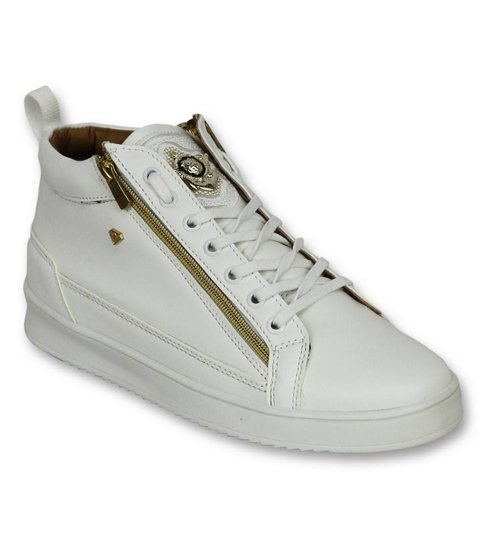 Cash Money Heren Schoenen - Heren Sneaker Bee White Gold - CMS98 - Wit