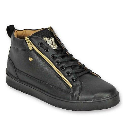 Cash Money Heren Schoenen - Heren Sneaker Bee Black Gold - CMS98 -Zwart