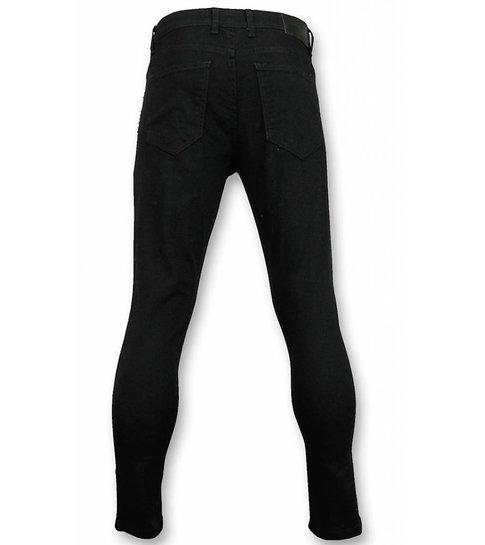 Mario Morato Skinny Heren Jeans - Broeken Heren - Skull Color 1482 - Zwart