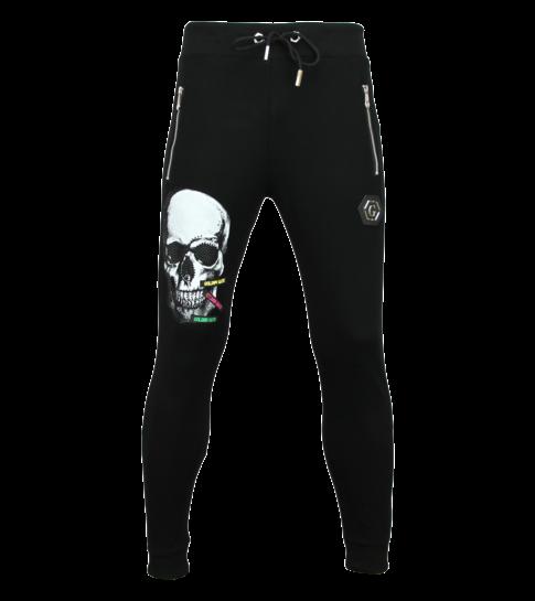 ENOS Joggingbroek Heren Zwart -  Sweatpants Mannen  Color Skull  - Zwart