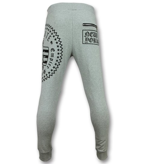 ENOS Skinny Sweatpants Heren - Trainingsbroek Mannen Sale - F585  - Grijs