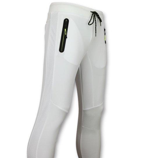 Enos Sportbroek Mannen Lang  - Slim fit Joggingbroek Heren - F561 - Wit