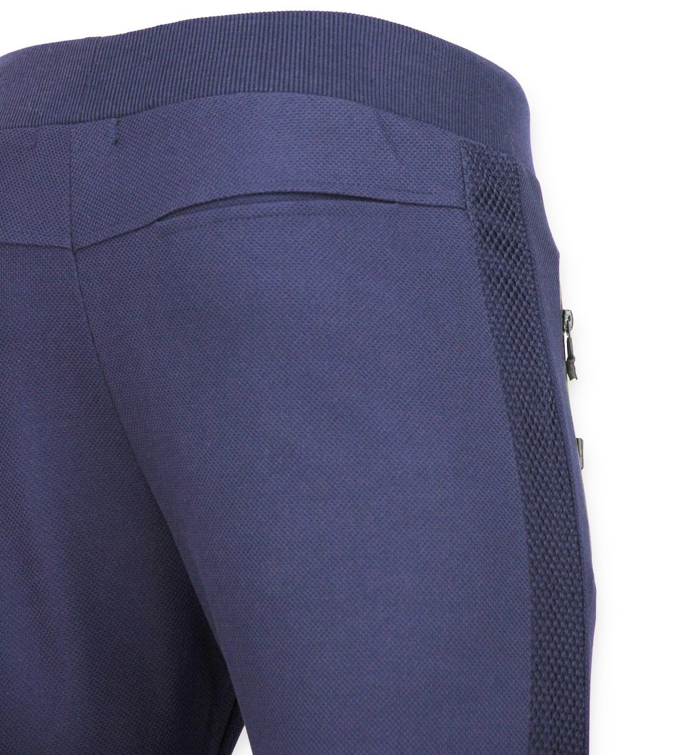 Sportbroek Heren Lang Slim fit Joggingbroek Mannen F561 Navy