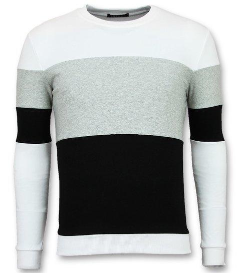 Enos Striped Sweater Heren - Online Streep Truien Kopen - Grijs