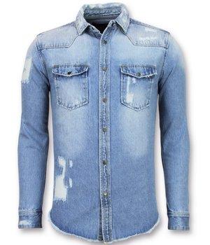 Denim Heren Overhemd.Denim Overhemd Heren Mooie Overhemden Vanaf 14 99 Gratis