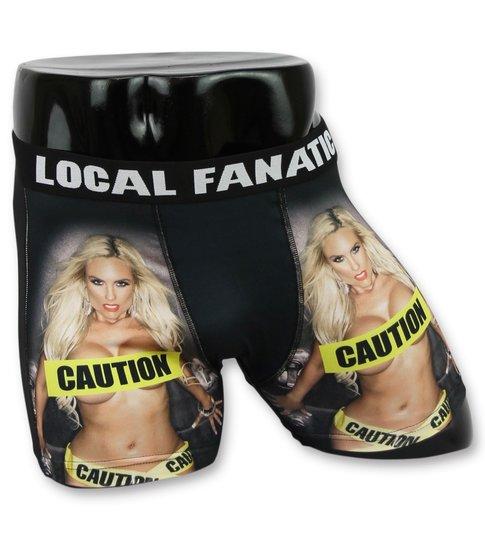Local Fanatic Mannen Boxers Sale - Heren Onderbroek Caution Chick